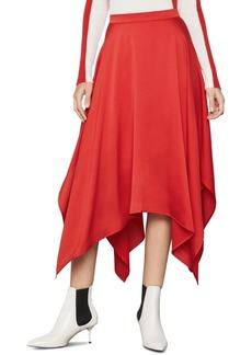 BCBG Max Azria Bcbgmaxazria Handkerchief-Hem Midi Skirt