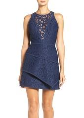 BCBG Max Azria BCBGMAXAZRIA 'Hannah' Tiered Lace Fit & Flare Dress
