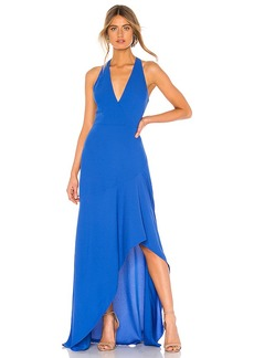 BCBG Max Azria BCBGMAXAZRIA High Low Halter Gown
