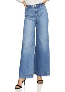 BCBG Max Azria BCBGMAXAZRIA High-Rise Wide-Leg Jeans in Medium Wash