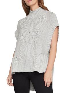 BCBG Max Azria BCBGMAXAZRIA High/Low Cable-Knit Sweater