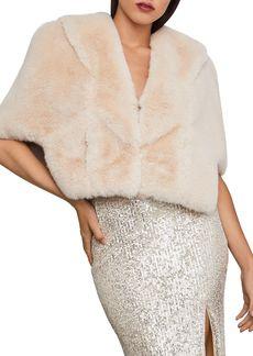 BCBG Max Azria BCBGMAXAZRIA Hooded Faux Fur Cape