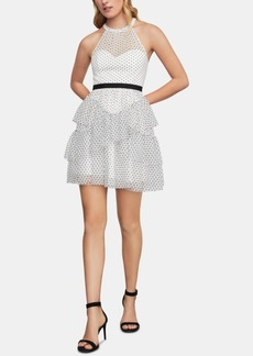 BCBG Max Azria Bcbgmaxazria Illusion Fit & Flare Dress
