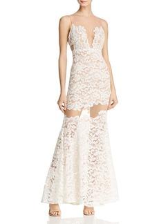 BCBG Max Azria BCBGMAXAZRIA Illusion Lace Gown