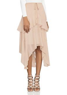 BCBGMAXAZRIA Inessa Handkerchief-Hem Midi Skirt