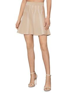 BCBG Max Azria BCBGMAXAZRIA Ingrid Textured Jacquard Mini Skirt