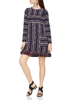 BCBGMAXAZRIA Jacquard Stripe Dress