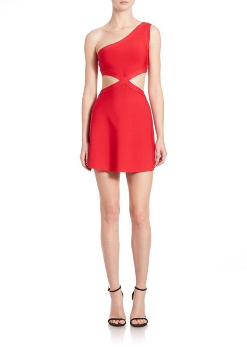 BCBG Max Azria BCBGMAXAZRIA Jacquelin One-Shoulder Cutout Dress