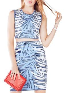 BCBG Max Azria BCBGMAXAZRIA Jaelynne Ink Washed Palm Crop Top