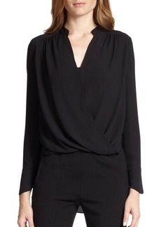 BCBG Max Azria Jaklyn Draped Long-Sleeve Blouse