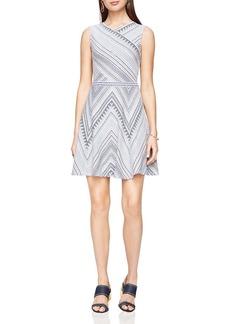 BCBGMAXAZRIA Jasmine Patterned Jacquard Dress
