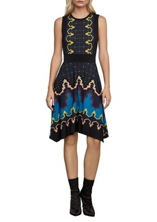 BCBG Max Azria BCBGMAXAZRIA Jedda Printed Fit-&-Flare Dress