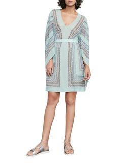 BCBGMAXAZRIA Jenissa Scarf Print Dress