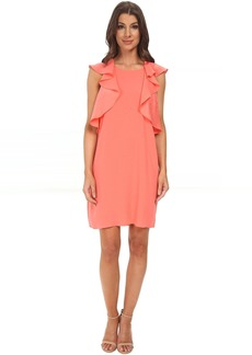 BCBGMAXAZRIA Jenni Ruffle Shoulder Racer Back Dress