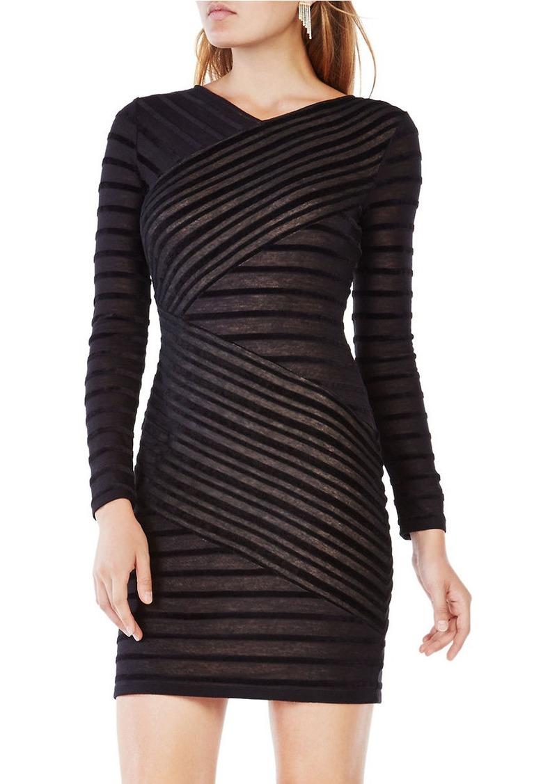 BCBG Max Azria BCBGMAXAZRIA Jerri Striped Fitted Dress