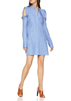 BCBGMAXAZRIA Jessee Cold-Shoulder Shirt Dress