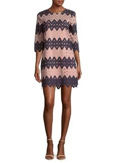 BCBGMAXAZRIA Jewelneck Knit Dress