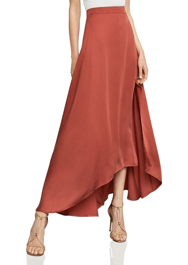 BCBG Max Azria BCBGMAXAZRIA Jillian Asymmetric Satin Maxi Skirt