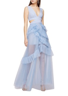 BCBGMAXAZRIA Joela Pleated Tulle Gown