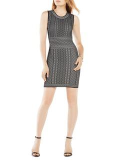 BCBGMAXAZRIA Jose Geometric Pattern Dress