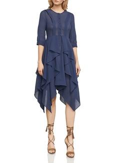 BCBG Max Azria BCBGMAXAZRIA Jovita Handkerchief-Hem Shirt Dress