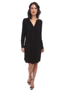 BCBGMAXAZRIA Julee Fold Back Front Drawstring Dress