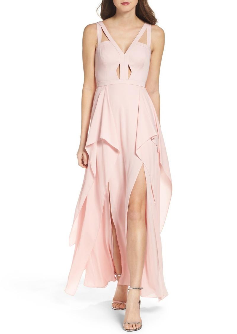 BCBG Max Azria BCBGMAXAZRIA \'Juliana\' Georgette Fit & Flare Gown ...