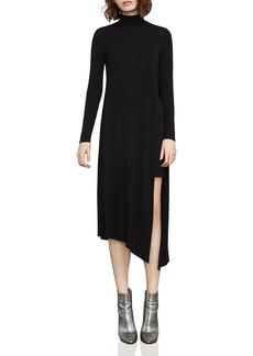 BCBGMAXAZRIA Kabrina Asymmetric Turtleneck Dress