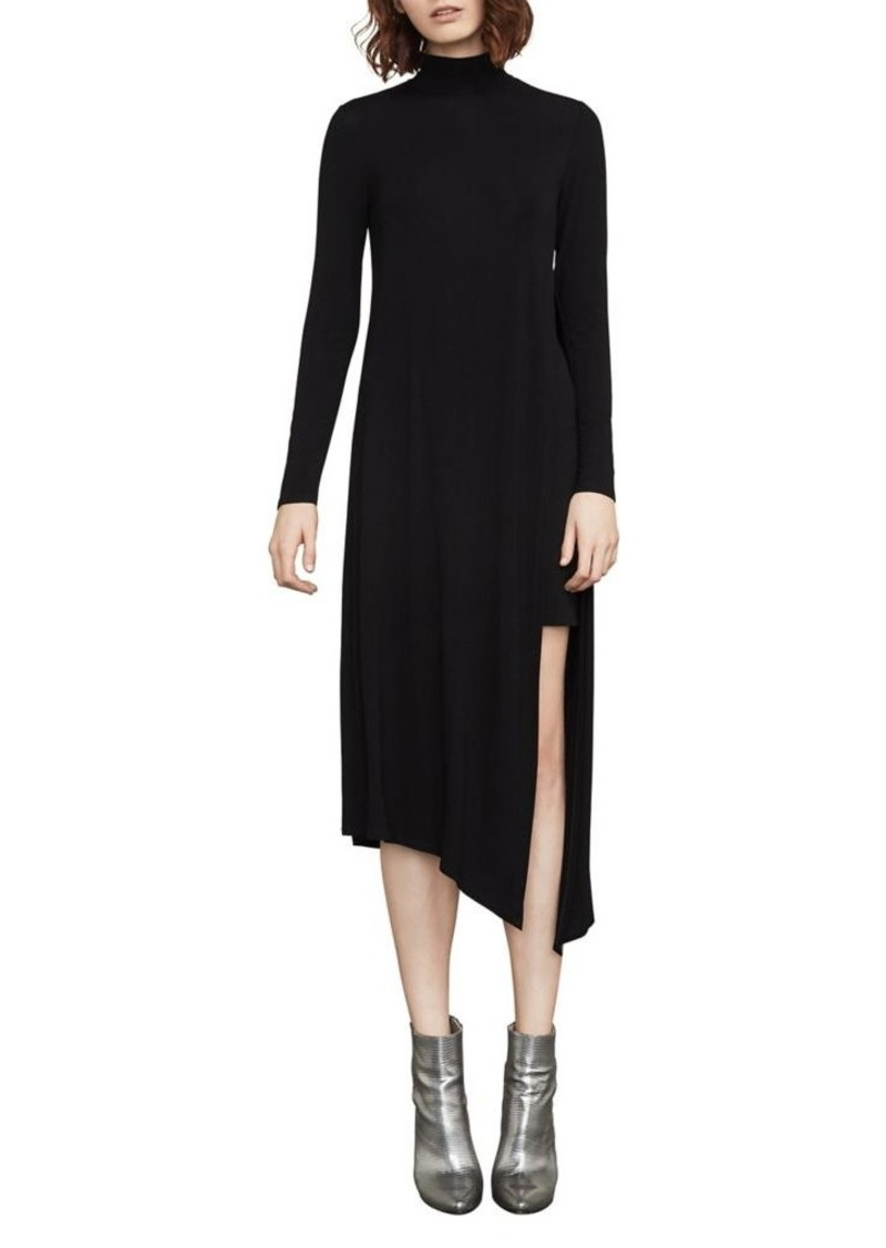 BCBG Max Azria BCBGMAXAZRIA Kabrina Asymmetrical Turtleneck Dress