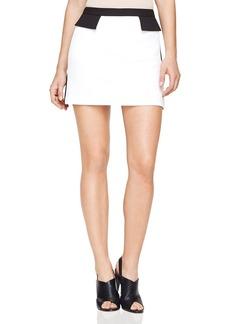 BCBGMAXAZRIA Kaela Color-Block Mini Skirt