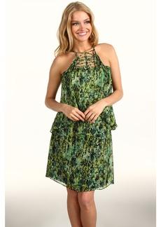 BCBGMAXAZRIA Kaia Tiered Silk Dress