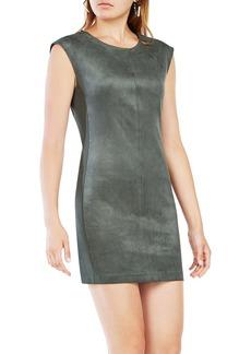 BCBG Max Azria BCBGMAXAZRIA Karlee Faux-Suede Shift Dress