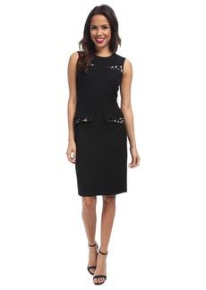 BCBGMAXAZRIA Kelsie Contrast Folded Peplum Dress
