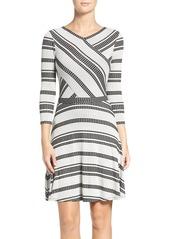 BCBG Max Azria BCBGMAXAZRIA 'Kenji' Fit & Flare Sweater Dress