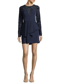 BCBG Max Azria BCBGMAXAZRIA Kerrianne Lace Peplum Dress