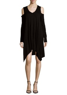 BCBGMAXAZRIA Knit Cold Shoulder Dress