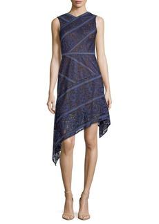 BCBGMAXAZRIA Knit Lace Evening Dress