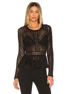 BCBG Max Azria BCBGMAXAZRIA Knit Lace Top