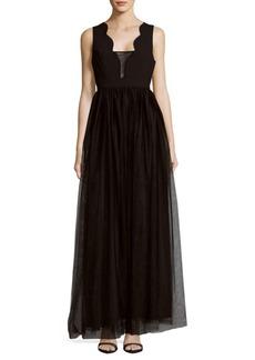 BCBGeneration Knit Mesh Evening Dress