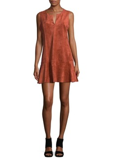 BCBGMAXAZRIA Knit Suede Mini Dress