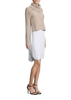 BCBG Max Azria BCBGMAXAZRIA Knit Sweater & Slip Twofer Dress