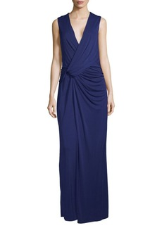 BCBG Max Azria Knot Sleeveless Evening Dress
