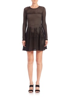BCBG Max Azria Kyla Mesh Knit Dress
