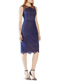 BCBGMAXAZRIA Lace & Illusion Mesh Dress