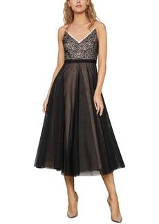BCBG Max Azria Bcbgmaxazria Lace & Tulle A-Line Dress