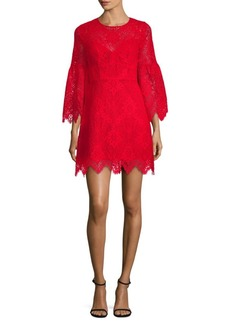 BCBG Max Azria Lace Bell-Sleeve Shift Dress