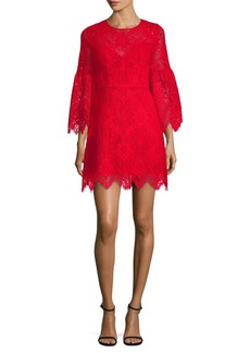 BCBG Max Azria Lace Bell-Sleeve Shift Dress