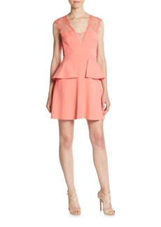 BCBG Max Azria BCBGMAXAZRIA Leann Sleeveless Peplum Dress