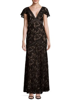 BCBGMAXAZRIA Lace Cut-Out Dress