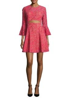 BCBGMAXAZRIA Lace Cutout Dress